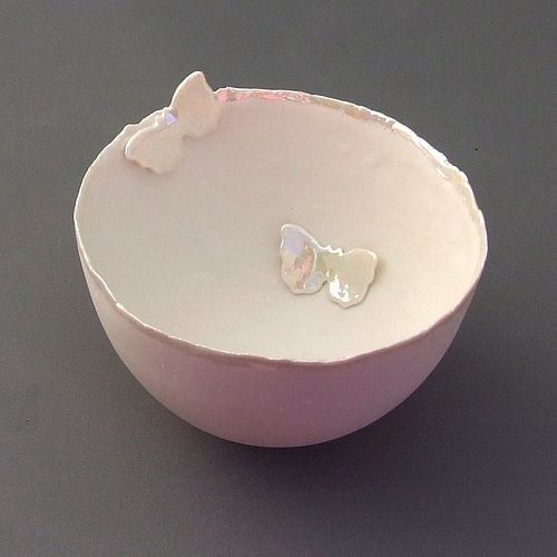 Large Two Butterfly Porcelain Bowl  Mothers Day by melissaceramics, £30.00