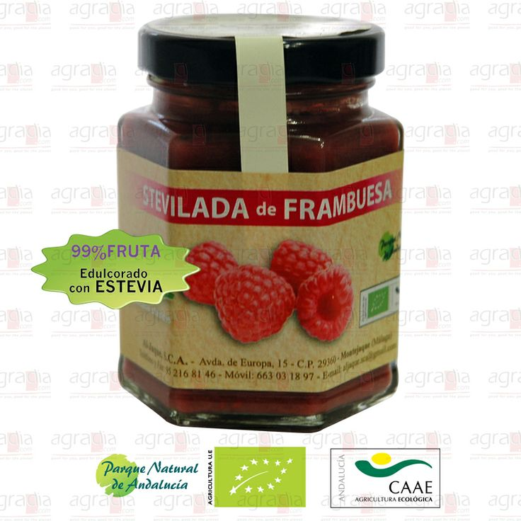 99% Frambuesa ecológica endulzada con stevia. #Raspberry #Jam - See more at: http://agradia.com/gourmet/mermelada/stevilada-de-frambuesa-ecologica-115gr-detail