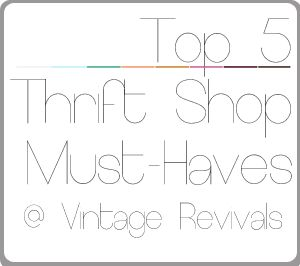 My Top 5 things I ALWAYS buy while Thrifting!