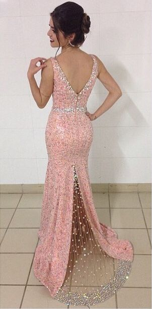 long prom dresses, women's prom dresses, prom dresses with beading, sexy prom dresses, high quality prom dresses, prom dresses 2016, 2016 prom dresses, pink prom dresses