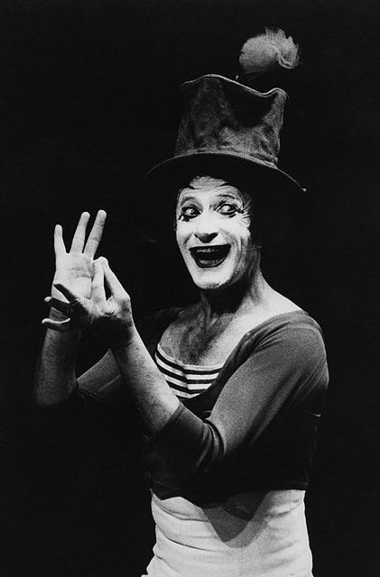 Marcel Marceau--I remember seeing this guy in college at WIU
