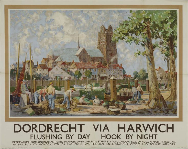 Dordrecht via Harwich Flushing by day Hook by night Information from continental Traffic Manager /…/