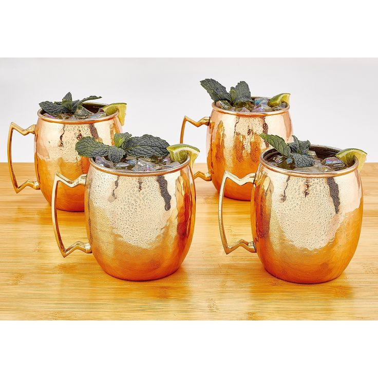 Go a little retro with these classic Moscow mule mugs from Old Dutch. Designed to keep the popular 1940's beverage made of vodka, ginger beer, and lime juice chilled, these mugs are sure to become a conversation piece at your next get-together.