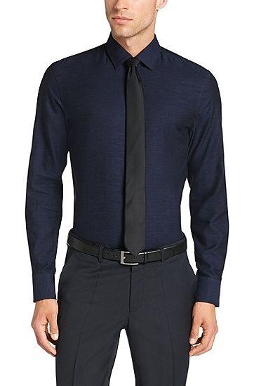 Slim-Fit Hemd aus Baumwolle: 'Jenno' Slim-Fit Hemd aus Baumwolle: 'Jenno', Blau