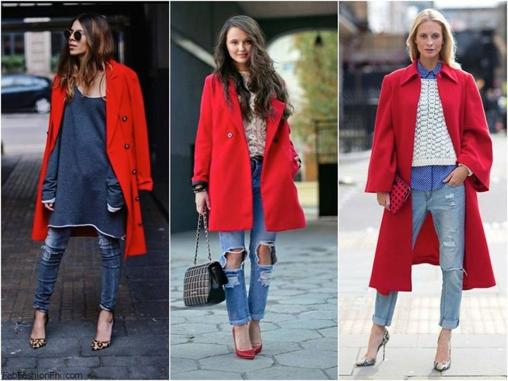 16 best Red coats images on Pinterest | Burgundy, How to wear and ...