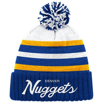 pretty nice 02779 bc65c ... new era nba double twist 9fifty snapback cap 66d93 51ff8  reduced mens  denver nuggets mitchell ness blue color block special script cuffed knit hat  with ...