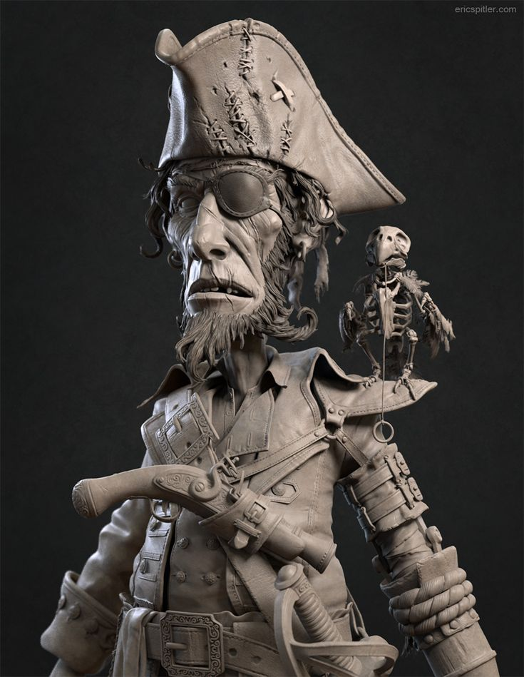 Pirate Hipoly by Eric Spitler   Whimsical   3D   CGSociety