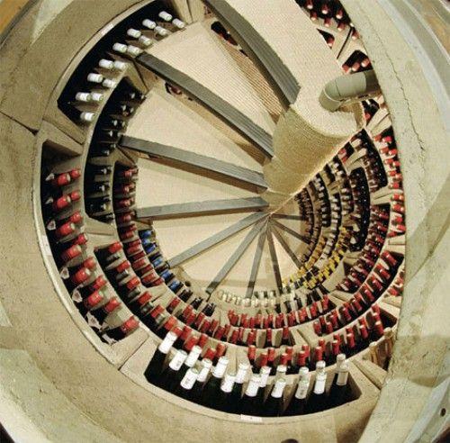 Underground wine cooler staircase