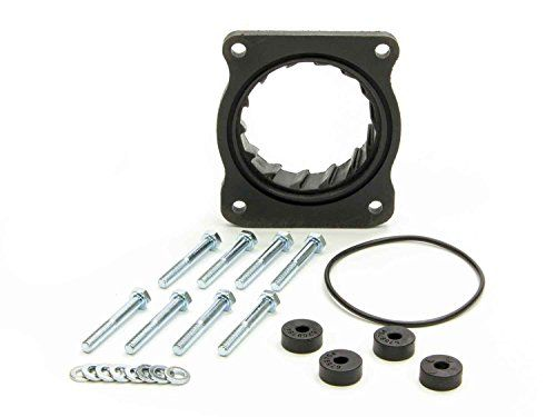 Volant 729754 Throttle Body Spacer:   Vortice throttle-body spacers are designed to provide additional performance with your factory or Volant's Cool Air Intake system. Manufactured from glass-filled Nylon composite, the Vortice spacers are incredibly strong, yet lightweight and install behind your vehicles throttle body to promote quicker throttle response and in most applications, provide a slight improvement in fuel efficiency.