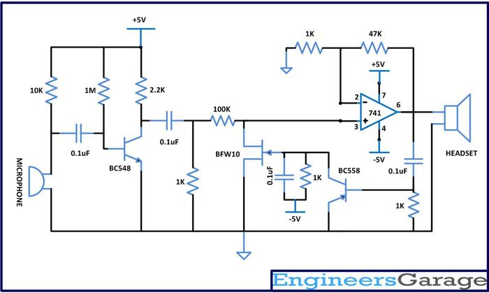 Circuit Diagram of Automatic Gain Control with Microphone and ... on schematic diagrams, mic xlr diagram, mic clipart, mic in hand, linear diagrams,