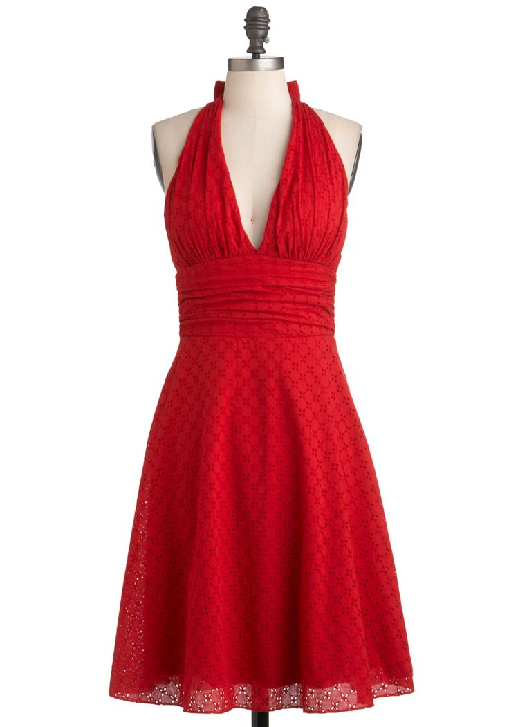 It's been a while since I made a halter dress... I also like the eyelet fabric... Picnic in Paradise Dress Modcloth, $84.99