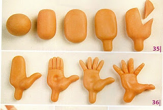 How to make fondant hands.