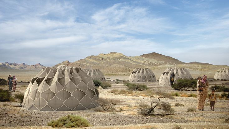 Abeer Seikaly's Structural Fabric Shelters Weave Refugees' Lives Back Together | ArchDaily