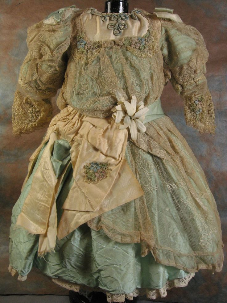 Outstanding Elaborate Doll Dress from fancyandfine on Ruby Lane