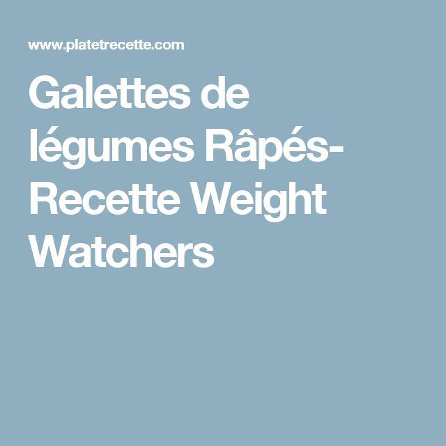 Galettes de légumes Râpés- Recette Weight Watchers