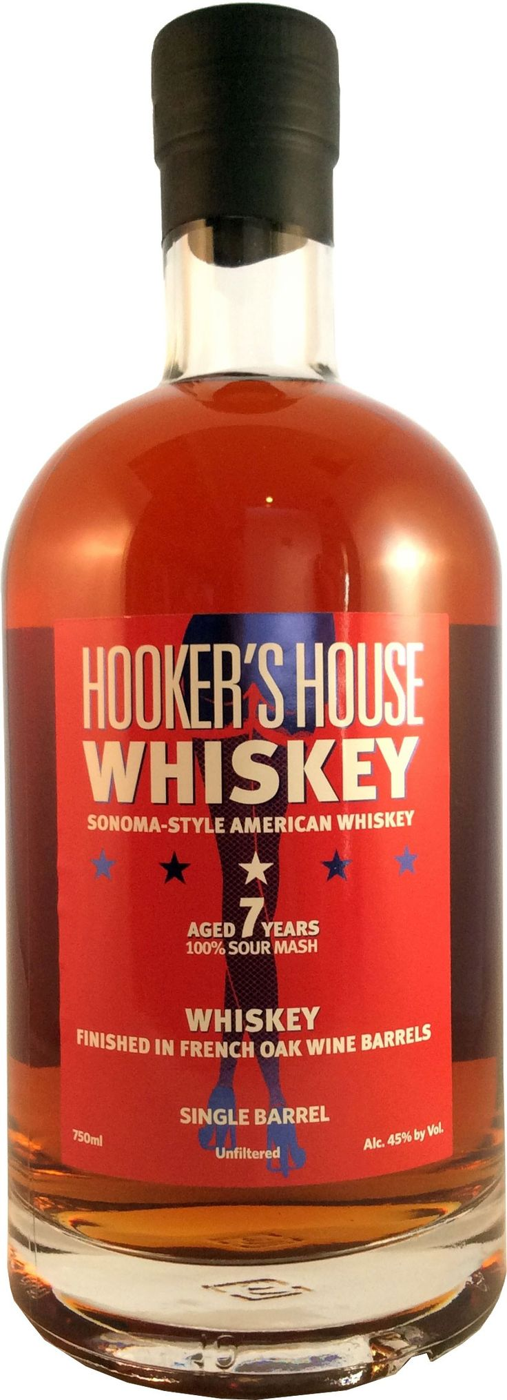 Aged for five years in American oak casks, this whiskey is matured for an additional two years in casks that were previously used to mature wine.