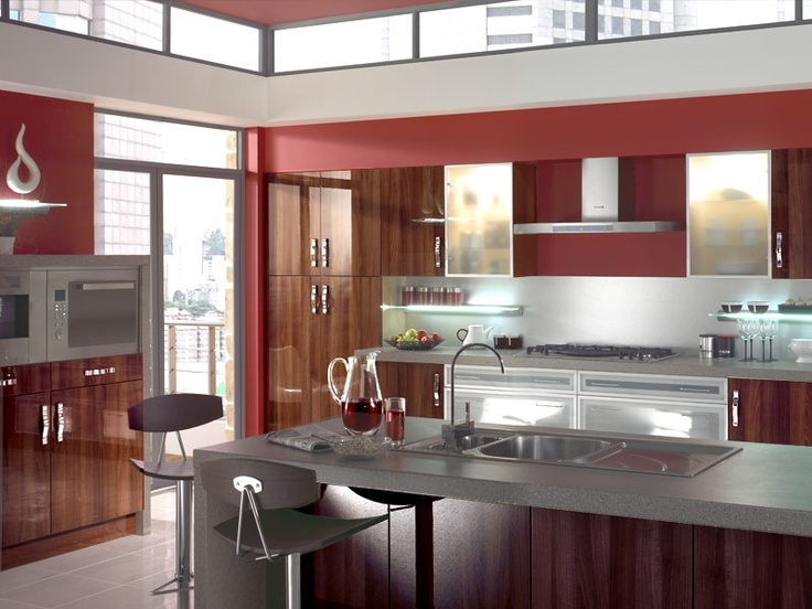 116 Best Images About Red Kitchens On Pinterest