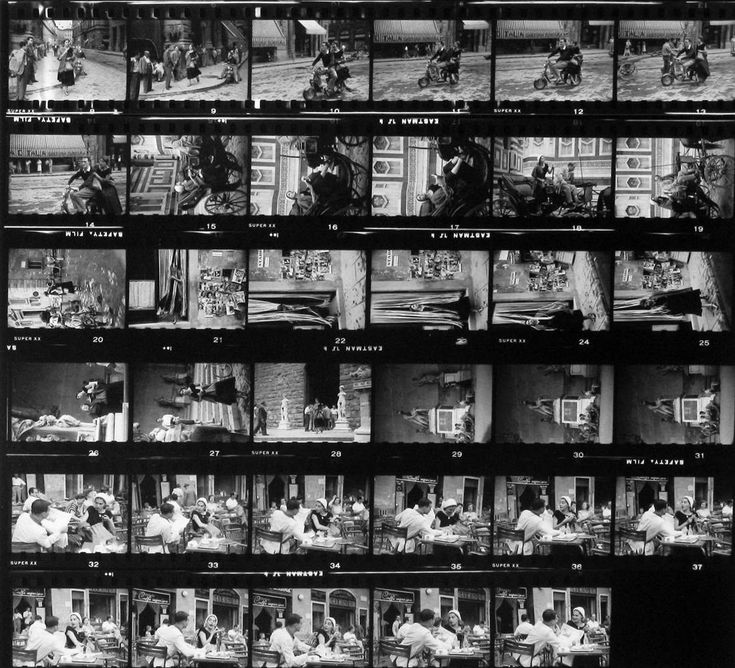 American Girls in Italy's contact sheet by Ruth Orkin
