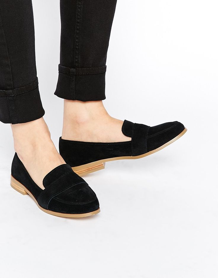 These look like they would be super comfy for rounding all day in. Image 1 ofASOS MANOR Suede Loafers