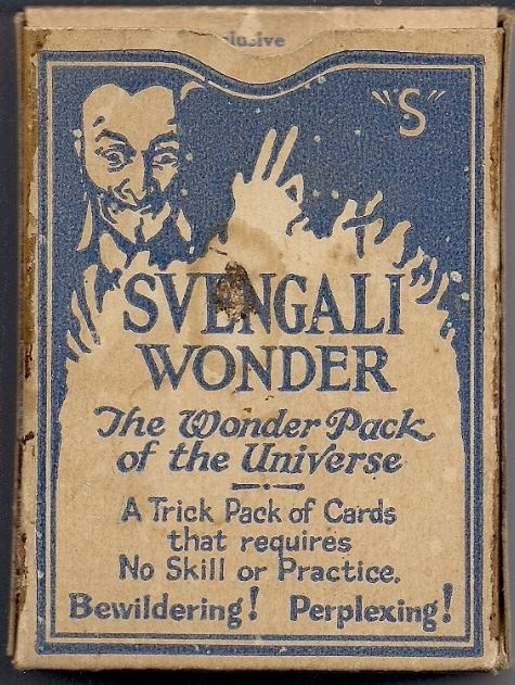 Sharp design on a Sherms Svengali deck, from Robert Sherman's magic factory in Bridgeport, Connecticut.