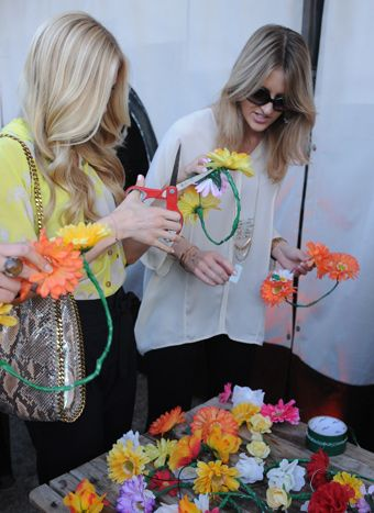 In Los Angeles in the days before Coachella kicked off, jewelry brand Haute Betts hosted a party with a floral garland-making station, where... Photo: Vivien Killilea