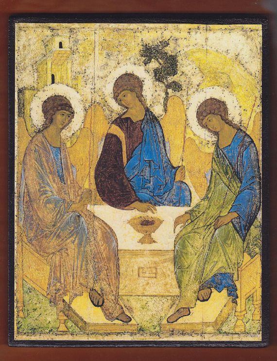 Andrei Rublev Trinity.Christian orthodox icon.FREE SHIPPING