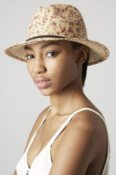 Summer outfit - hat - Floral Print Fedora by Top Shop for $9. Buy it here: http://justbestylish.com/10-stunning-hats-to-wear-this-summer/7/