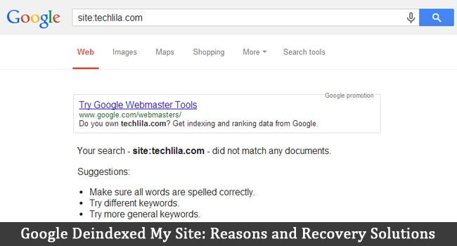 12 Reasons why Google deindexed your site along with how to remedy each one. How to recover a deindexed website and prevent it happening again.