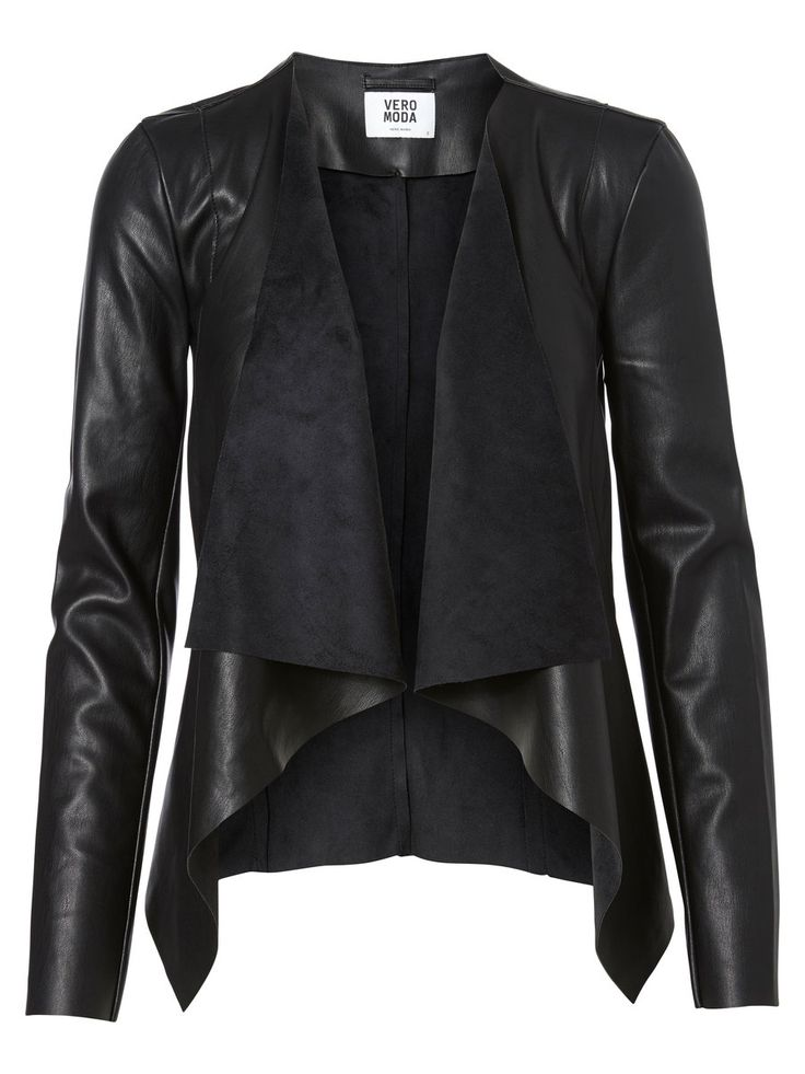 SHORT PU JACKET, Black