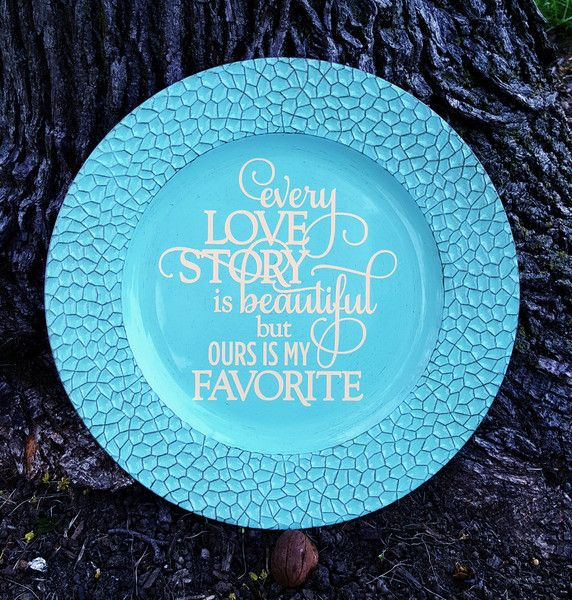 13\  Decorative Antique Mosaic Turquoise Charger Plate \ Every Love Story Is Beautiful\   sc 1 st  Pinterest & 9 best Charger Plates images on Pinterest | Charger plates ...