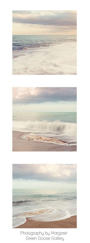 Beach wall art print set art for bathroom ocean wall for Beach house prints