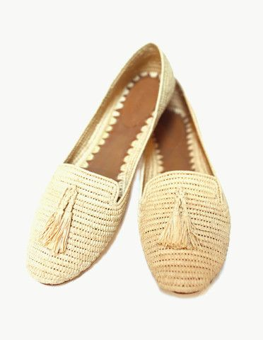 Carrie Forbes raffia loafers made in Morocco