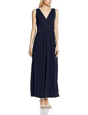 20 (Manufacturer Size:22), Blue (Navy), HotSquash Women's V Cross Over Maxi Dres