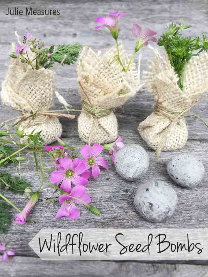 This Spring, Stop And Smell The Flowers With Do It Yourself Wildflower Seed  Bombs!
