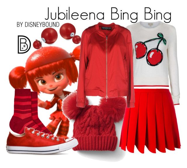 """Jubileena  Bing-Bing"" by leslieakay ❤ liked on Polyvore featuring Bling Jewelry, Gap, Miu Miu, Department 5, Maria La Rosa, Converse, disney, disneybound and disneycharacter"