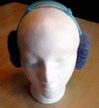 Felted Loom Knit Earmuff Covers | AllFreeKnitting.com