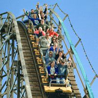 Wooden Roller Coaster Playland at the PNE Introduced: 1958 Height: 75 feet Speed: 47 mph