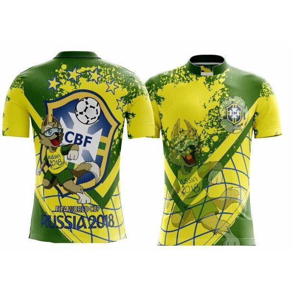 5a7360df3b Camiseta Futebol Seleção Brasileira Brasil Copa 2018 Mundo