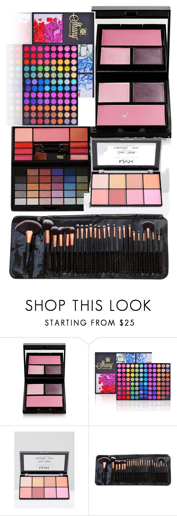 """""""Make up palets/brushes"""" by fashiongirllover18 ❤ liked on Polyvore featuring beauty, Surratt, Shany and NYX"""