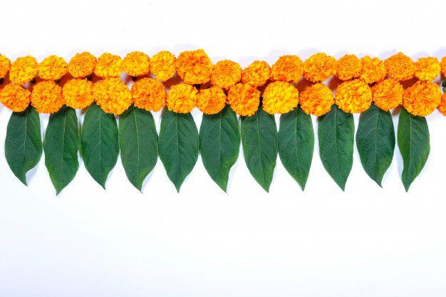 Marigold Flower Rangoli Design For Diwali Festival Indian Festival Flower Decoration Flower Decorations Flower Decorations Diy Marigold Flower