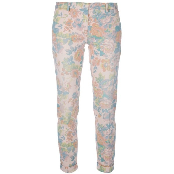 MONO floral print chino trouser ($325) ❤ liked on Polyvore
