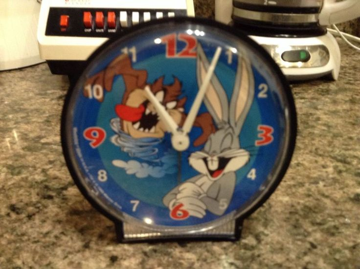 1995 Warner Bros. Alarm Clock w/ Tasmanian Devil TAZ & Bugs Bunny Made in USA   | eBay