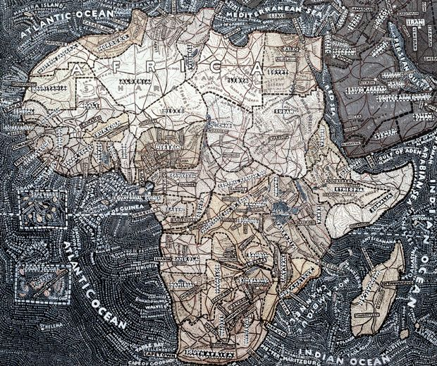 Stunning Subjectivity: Paula Scher's Obsessive Hand-Painted Maps | Brain Pickings