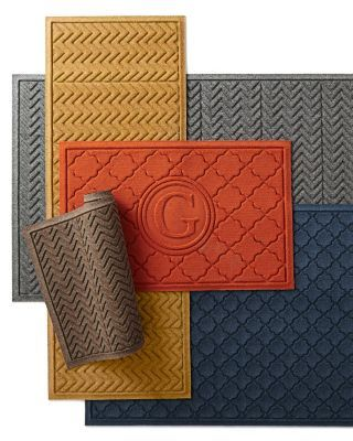 Loving the grey and orange, Water Guard Mat from Garnet Hill.