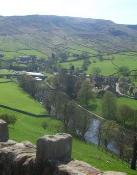 The beautiful village of Appletreewick, North Yorkshire, England