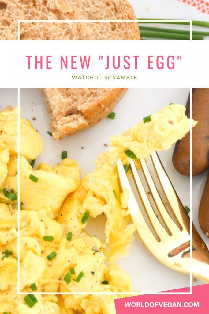 Vegan Eggs Are Finally Here Watch The New Just Egg Scramble Vegan Eggs Whole Food Recipes Scrambled Eggs Recipe