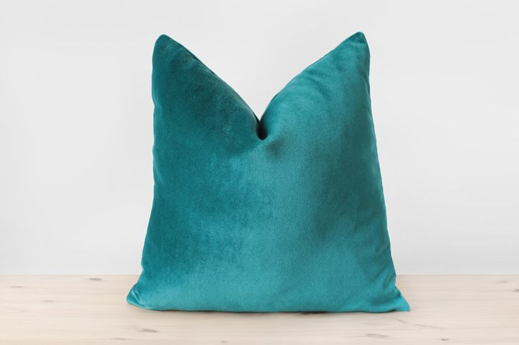 Blue Green Pillow Cover Teal Velvet Cushion Solid Teal Throw Pillows Teal Lumbar Pillow Modern Home Decor 18x18 20x20 22x22 by Esnelle on Etsy https://www.etsy.com/nz/listing/291647929/blue-green-pillow-cover-teal-velvet