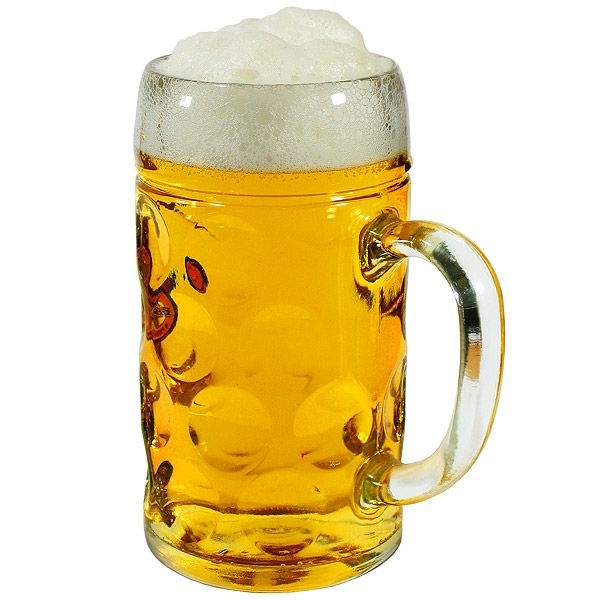 German Beer Stein Glass, buddy order us each one of these at lunch only one person finished it.