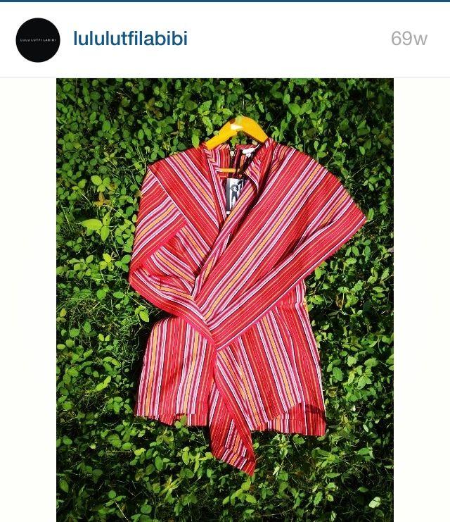 Modern Lurik Batik by Lulu Lutfi Labibi #Batik #Lurik #Indonesia #FashionCrime
