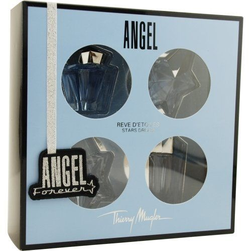 ANGEL VARIETY by Thierry Mugler Perfume Gift Set for Women (4 PIECE MINI VARIETY SET WITH ANGEL STAR by ANGEL VARIETY. $57.35. Concentration: Eau De Parfum. 100 % Genuine Fragrance.. Size: -. 100% Authentic ANGEL VARIETY by Thierry Mugler Perfume Gift Set for Women (4 PIECE MINI VARIETY SET WITH ANGEL STARS AND ALL ARE EAU DE PARFUM .17 OZ). Manufactured by the design house of Thierry Mugler. Product Details -- Concentration: Eau De Parfum; Size: -; Form: Gel; Design...